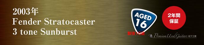 2003年 Fender Stratocaster 3t
